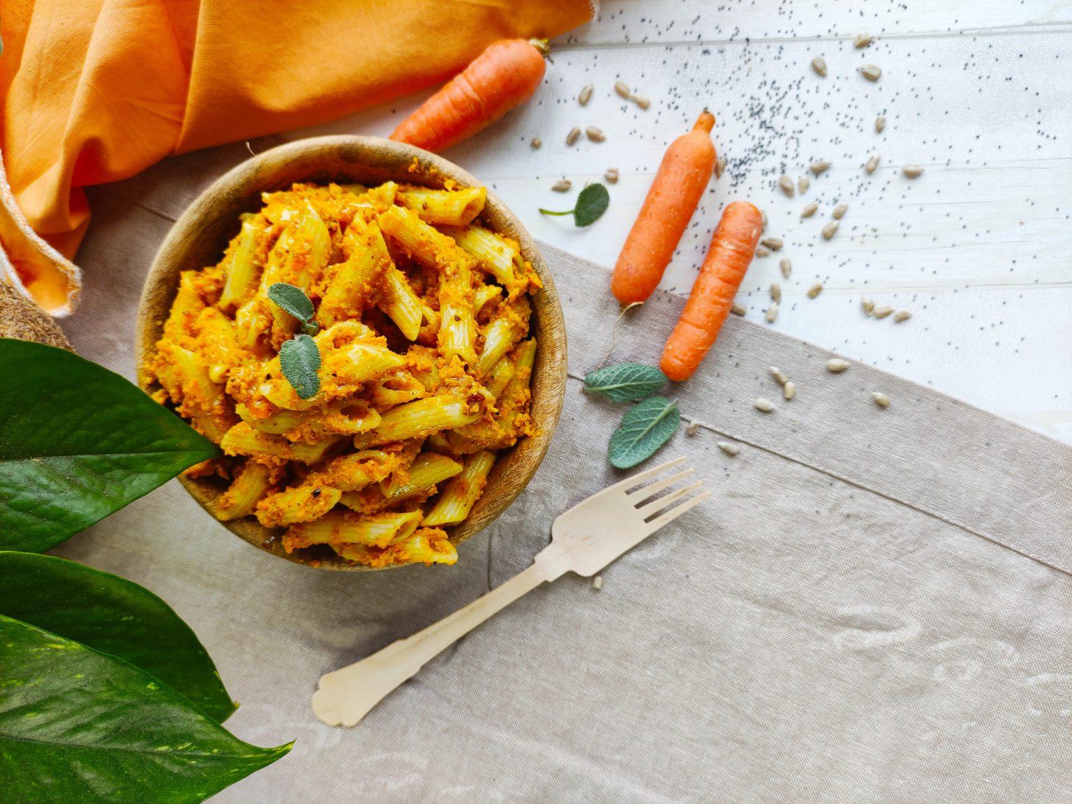 pesto di carote e semi di girasole