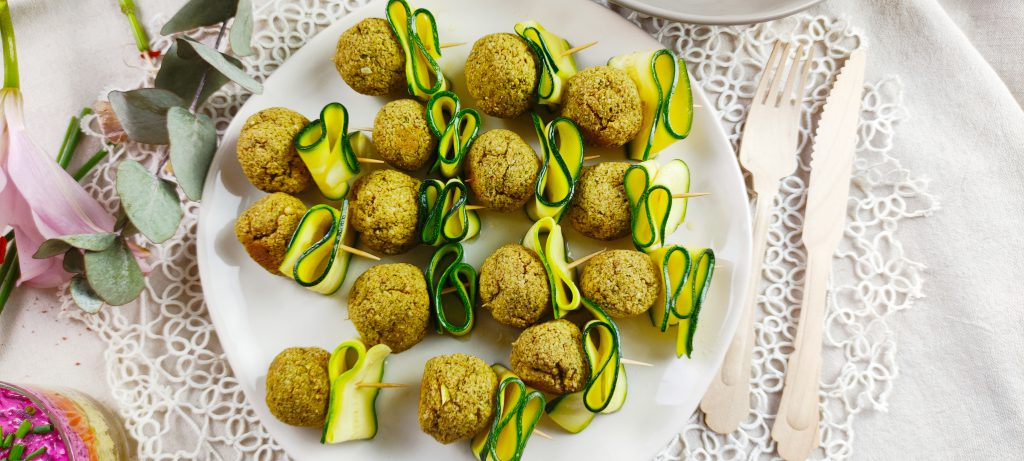 polpette zucchine e anacardi