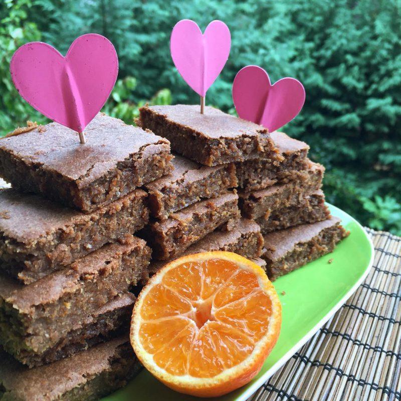 Brownie arancia e cioccolato